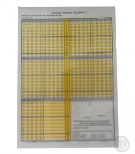 Tabuľky objemu guľatiny vcelých dĺžkach - ihličnaté - A5
